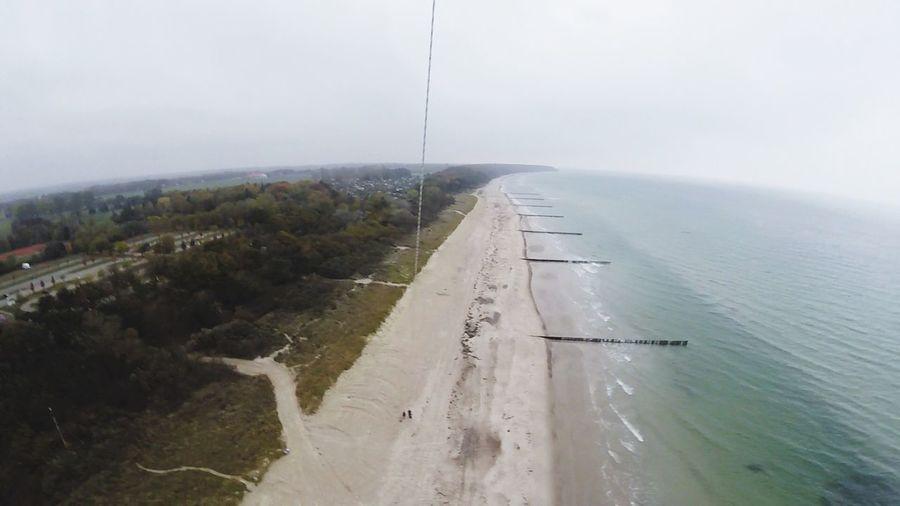 Luftaufnahme Kap Goprosession Warnemünde