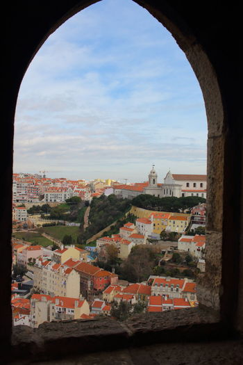 Lisbon - Portugal Lisboa Portugal Lissabon, Portugal EyeEm City Lover Castelo De São Jorge Architecture Built Structure Sky Building City Building Exterior Cityscape Residential District No People Nature Cloud - Sky Arch Day Outdoors Town Window History Community TOWNSCAPE