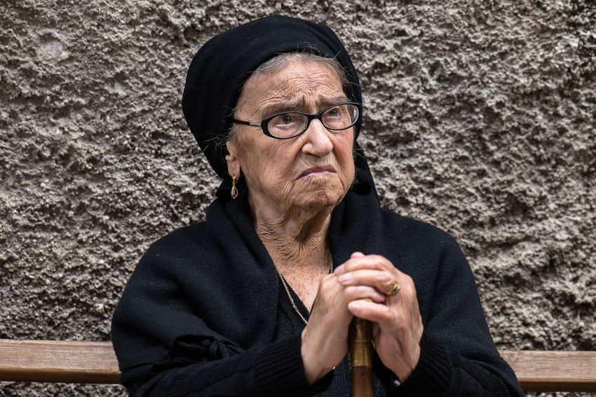 Abruzzo Italy Not In Pose Old Street Photography Street Portrait Typical Typical Woman Up Close Street Photography
