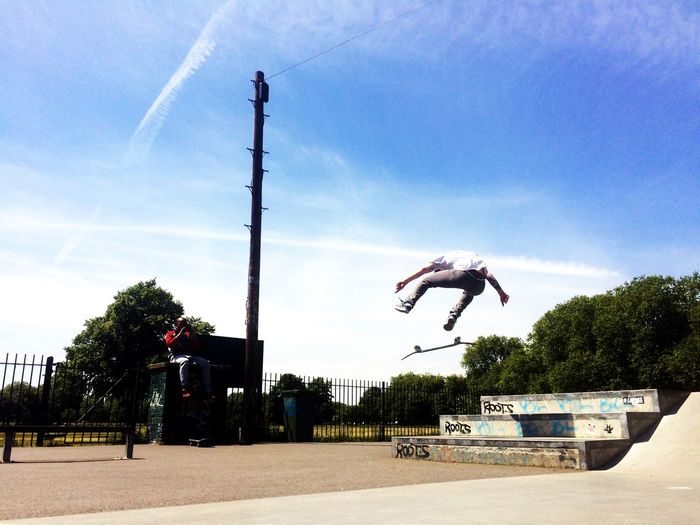 The Moment - 2015 EyeEm Awards The Action Photographer - 2015 EyeEm Awards Skateboarding Skateboard London Skate Clapham Common Skatepark Creative Light And Shadow Sport In The City