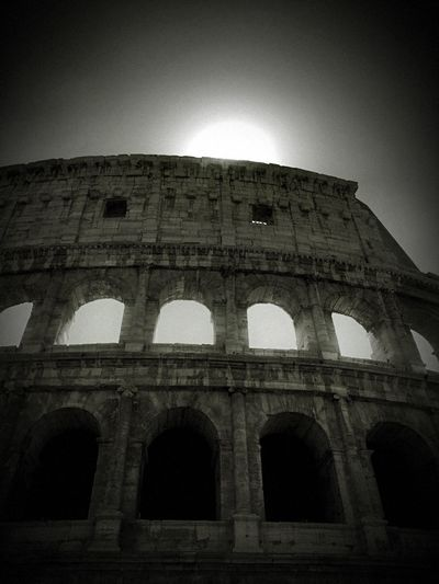 Collosium Arch Low Angle View Architecture Built Structure History The Past Old Ruin Travel Travel Destinations Tourism Outdoors Ancient No People Day Illuminated Ancient Civilization Building Exterior Sky