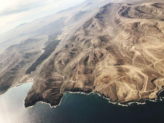 Fuerteventura Luftaufnahme Fuerteventura Mountain Water Beauty In Nature Nature Tranquility Scenics - Nature Tranquil Scene Land Sea