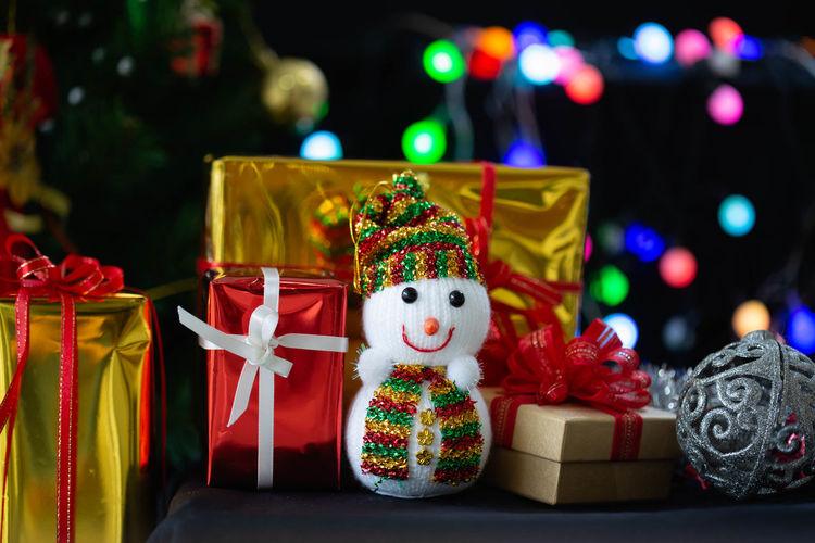 Illuminated christmas decoration in box