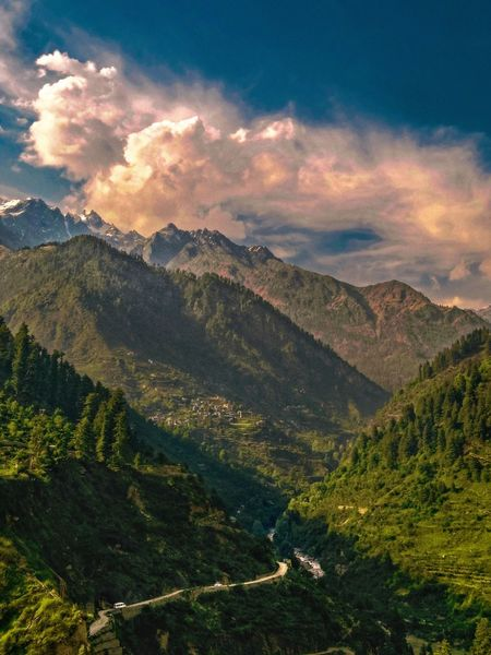 Parvati valley Scenics - Nature Mountain Beauty In Nature Sky Environment Tranquil Scene Landscape Plant Mountain Range Cloud - Sky Nature Tranquility Tree Non-urban Scene Forest Land Outdoors No People Idyllic Growth Capture Tomorrow