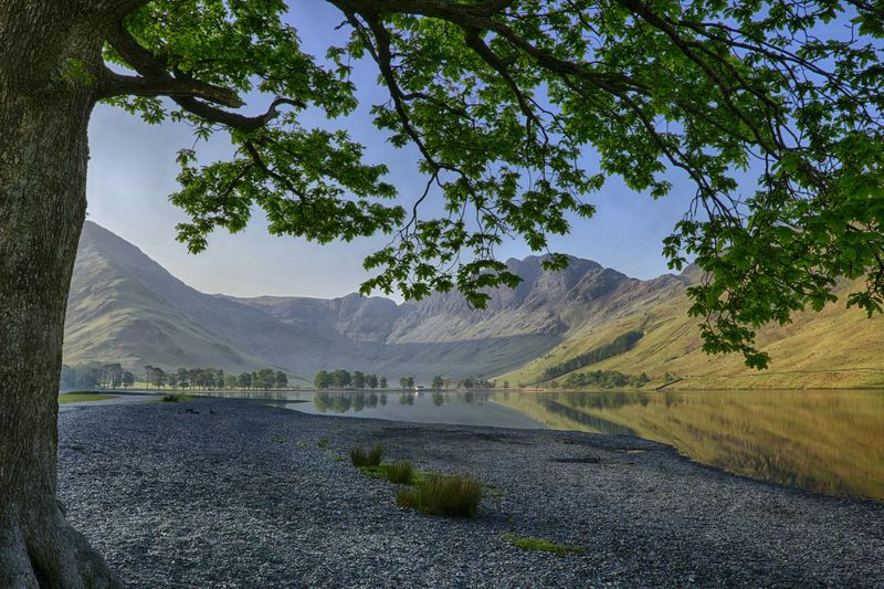 Scenic view of buttermere lake