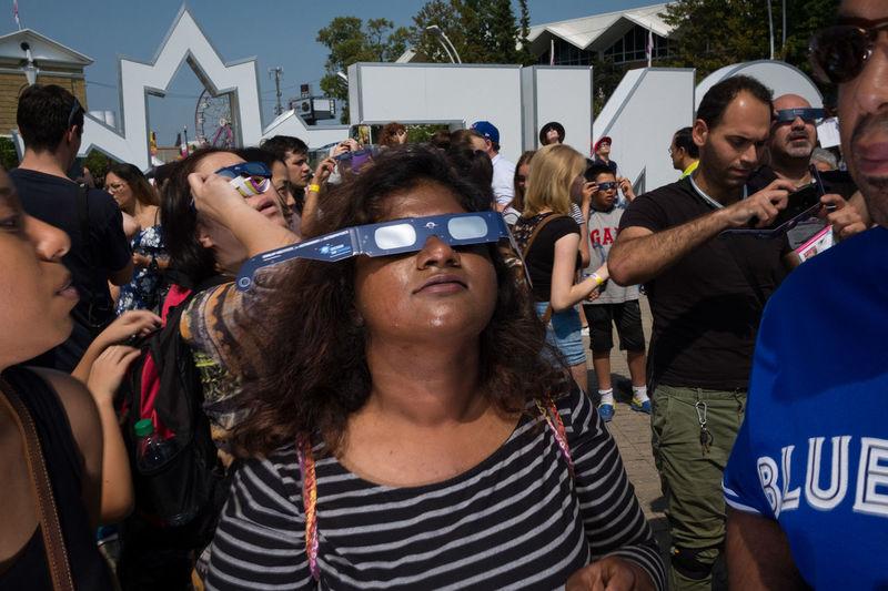 Toronto, August 2017. CNE Toronto Canada Canadian National Exhibition Eclipse Eclipse 2017 Flash Flash Photography Fuji Fujifilm Street Photography Streetphotography Streetphotography_bw