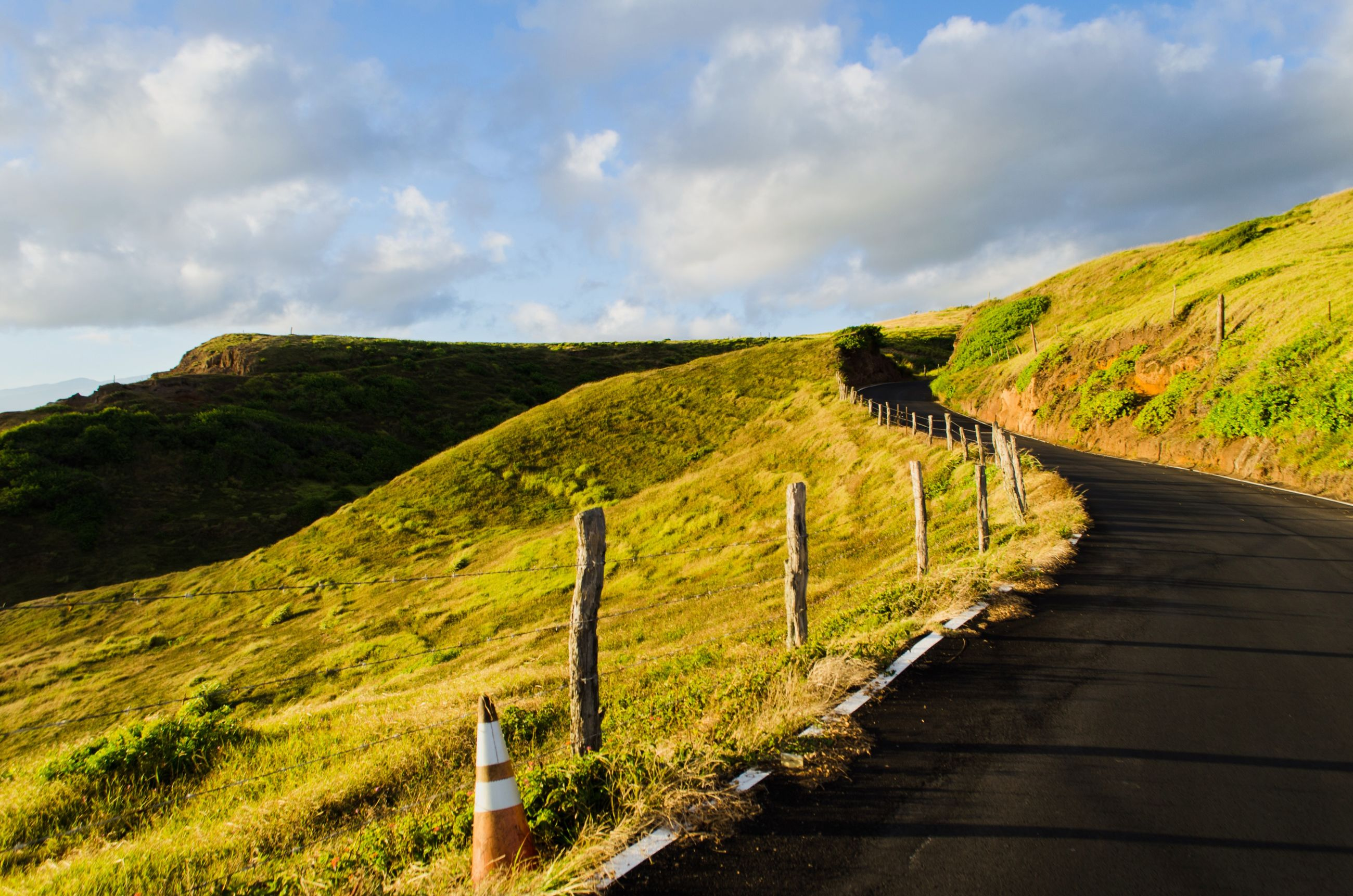 the way forward, sky, tranquil scene, tranquility, landscape, cloud - sky, scenics, grass, mountain, beauty in nature, nature, diminishing perspective, road, green color, cloud, footpath, fence, railing, cloudy, vanishing point