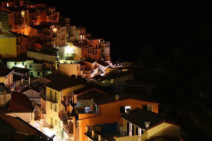 Manarola 5 Terre Liguria By Night Lights