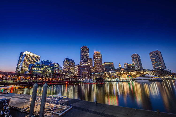 Night of Boston Boston Night Lights Night Photography Nightphotography Architecture Blue Building Exterior Built Structure City City Life Cityscape Clear Sky Illuminated Modern Night Night View Nightlife No People Sky Skyscraper Teavel Destination Tower Travel Destinations Urban Skyline Water