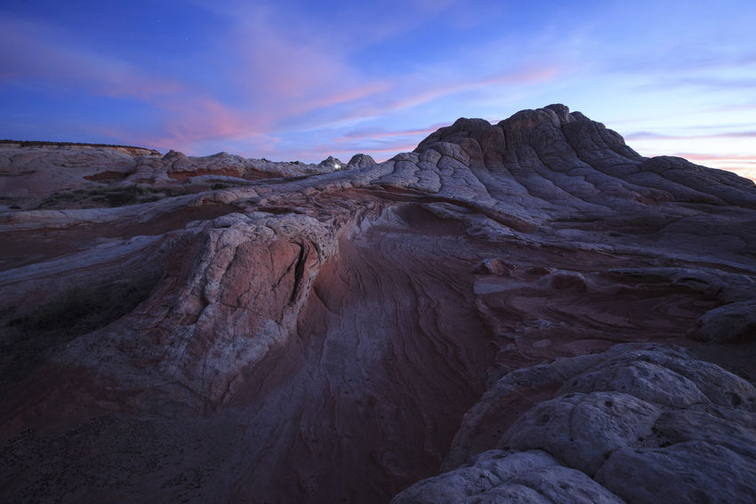 Lost In The Landscape Scenics Sunset People Flashlight Landscape Night Mountain Nature Geology Outdoors Beauty In Nature Travel Destinations Sky White Pocket, Arizona Vermilion Cliffs National Monument