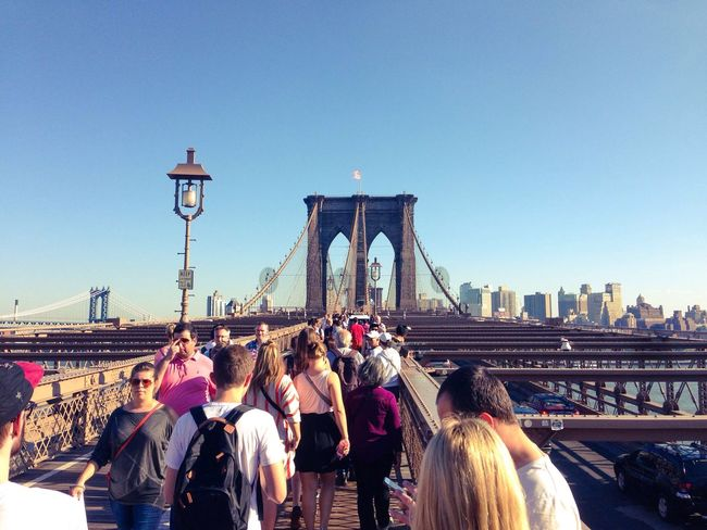Large Group Of People Real People Built Structure Architecture Tourism Travel Destinations Tourist City Travel Clear Sky Building Exterior Person Bridge - Man Made Structure Men Connection Outdoors Vacations Day Sky Crowd