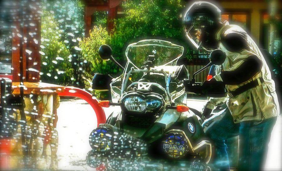 a little rain....... Chrystal Clear Clear Clear Sky Fueling Up Helmet Motorcycle Motorcycles Rain Drops Rain Gear Raindrops Rainy Days Summer Wet Wipe