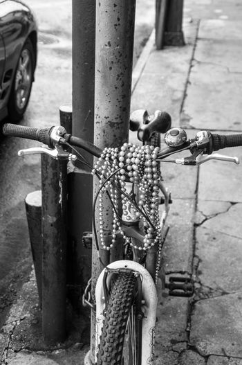 Bicycle Beads Black And White Stree Photography