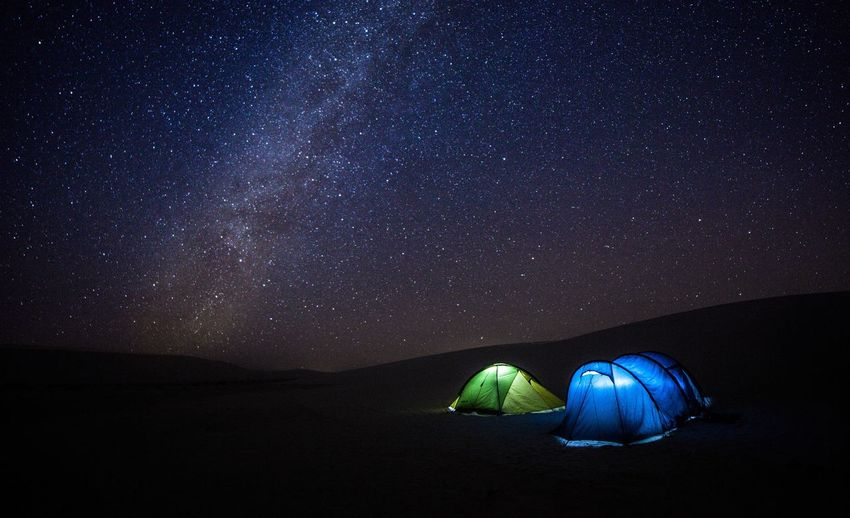 Nightsky Night Tent Tranquility Star - Space Sky Astronomy Nature Outdoors Beauty In Nature Blue No People Scenics Galaxy