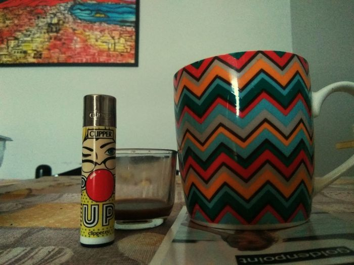 essential things😂😂😂 Clipper Collection Coffee Multi Colored Wood - Material Close-up