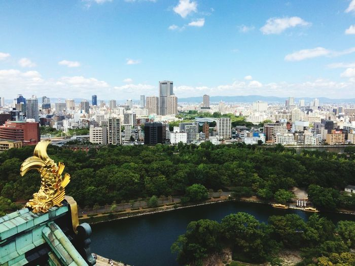Golden Decoration On Top Of Osaka Castle