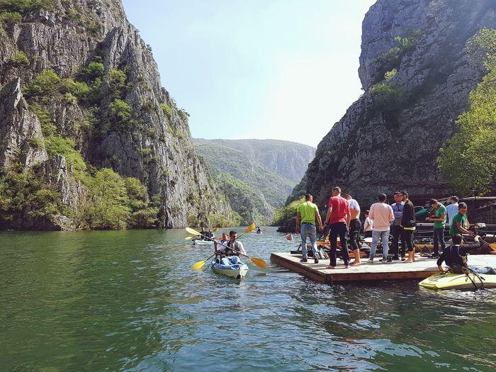 Macedonia Matka Canyon Kayaking Canyon