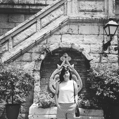 Black And White Photography Intramuros,manila History Philippines