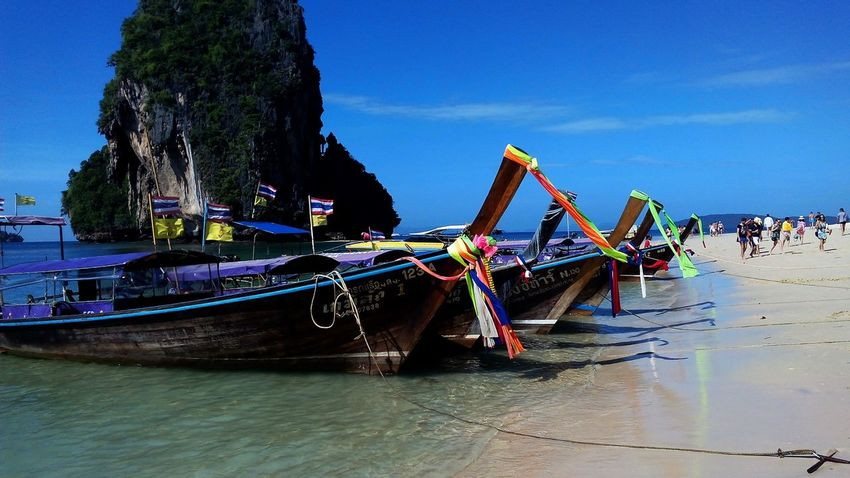 Railey Beach Railey Beach AoNang Krabi Thailand Southern Baech Tail Boat Relaxing Nature Beuatiful Andaman Andaman Sea
