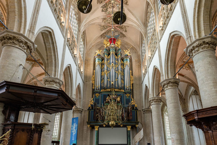 Church organ Breda Arch Architectural Column Architecture Breda Ceiling Church Church Organ Church Organ Pipes Column Design Grote Kerk Historic In A Row Indoors  Low Angle View Ornate Place Of Worship Religion Spirituality
