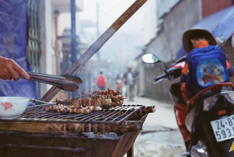 Film Photography Sapa, Vietnam Skewers Street Food Worldwide Canonav1 CanonFD  Vietnamese Street Food