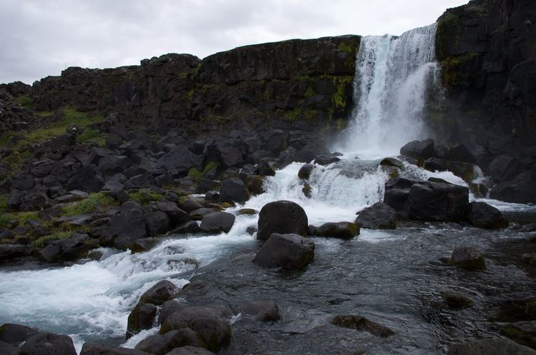 Iceland Thingvellir National Park Waterfall
