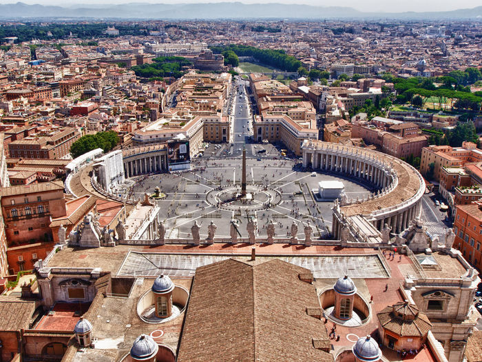 Aerial view of st peters square
