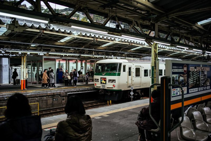 Travel Travel Photography Trip Train Station Platform Train Station Platform 185 Atami Transportation Public Transportation Train - Vehicle Mode Of Transport Rail Transportation Railroad Station Platform Real People Railroad Track Men Women Adult People