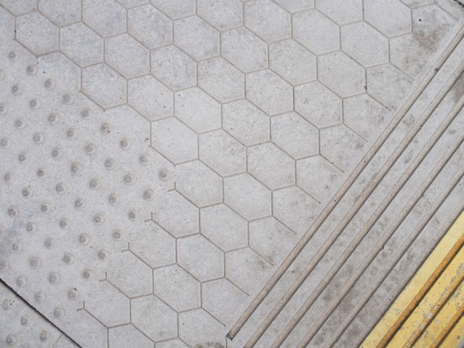 Backgrounds Diagonal Flooring Floortraits Geometric Shapes Grey Honeycomb Lines Pattern Pattern Pieces Remember Reminder Simplicity Train Train Station Train Tracks Yellow
