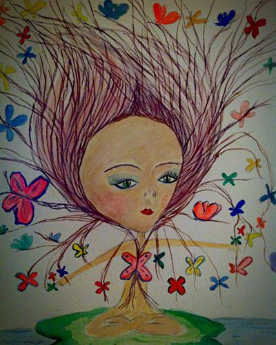 Meditation Lotoflower Lotus Yoga Art, Drawing, Creativity Relaxing Watercolours