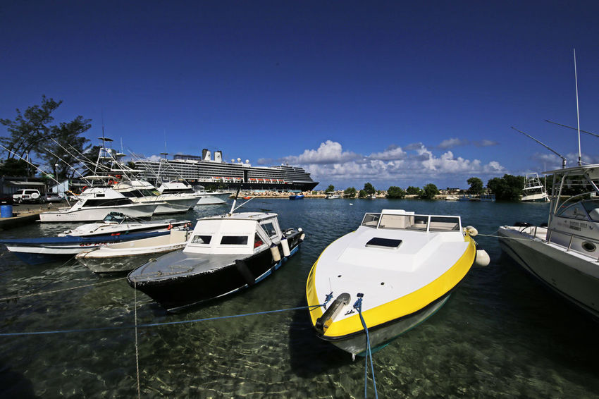 Caribbean Sea Cruise Ship Harbour Holiday Marina Ocho Rios Jamaica Ocho Rios Tropics