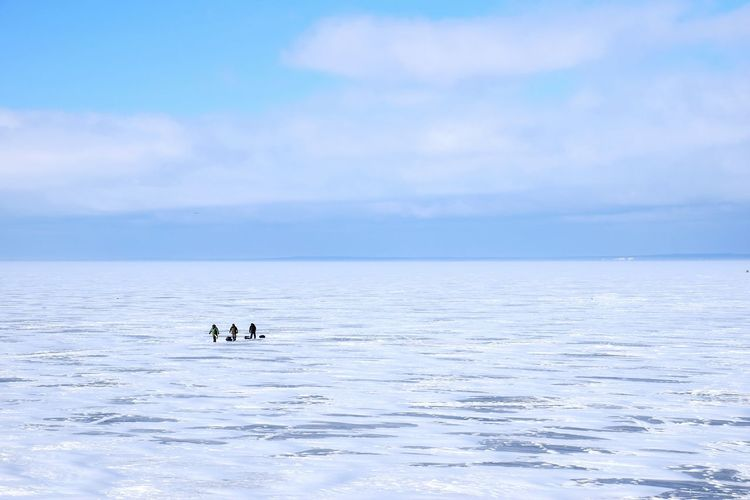Blue Landscape Floating On Water Outdoors Water Outdoor Pursuit Nature Day One Person Real People Fisherman Sea Sea_collection Ice Minimalism Kronstadt Russia Fishermen of the sea ice The Great Outdoors - 2017 EyeEm Awards BYOPaper! Live For The Story