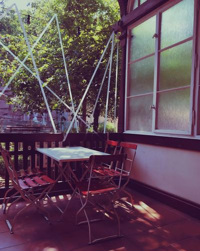 Seat No People Chair Window Table Absence Empty Day Tree Cafe Nature