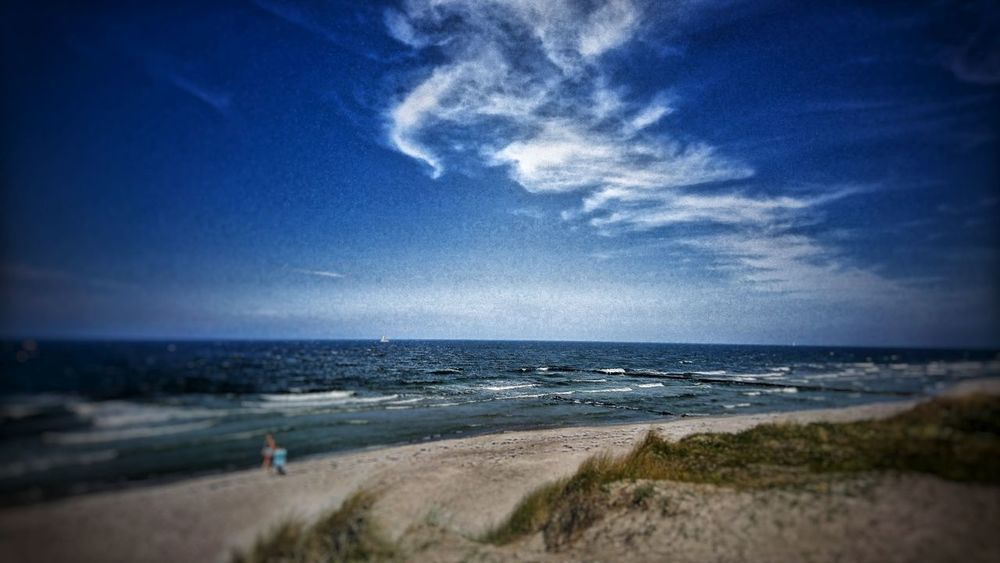 Strand von Neuendorf. Baltic Sea Holiday Cloud - Sky Digital Art Ostsee Neuendorf Hiddensee Water Wave Sea Beach Astronomy Sand Sky Horizon Over Water Seascape Shore Sandy Beach