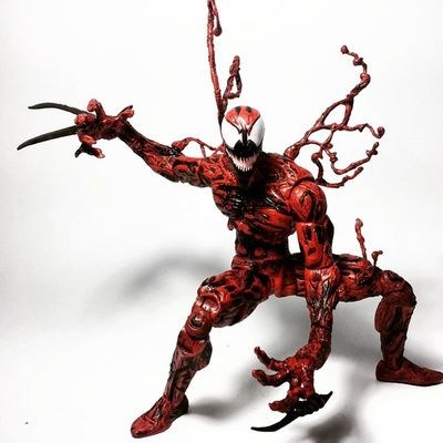 Marvel Select Carnage! Marvel Marvellegends Marvelcomics Marvelnation MarvelFan Marvelselect Diamondselect Carnage Cletuskassidy Symbiote Spiderman Toy Toyphotography Toypizza Toysarehellasick Toycollector Toycommunity Toycollection