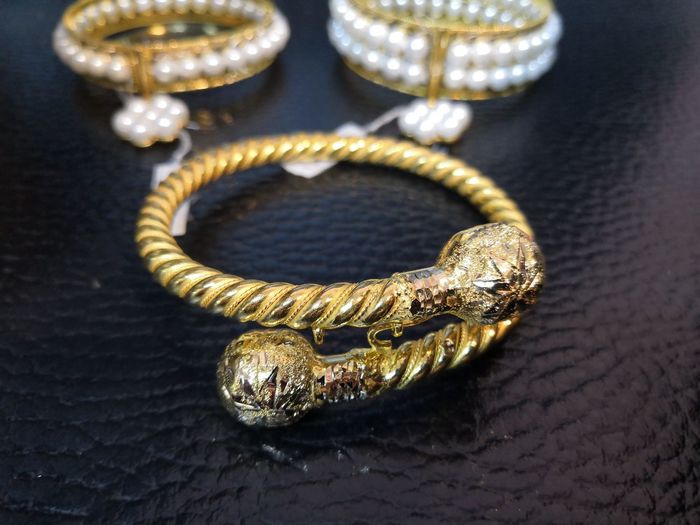 Made By Hand Black Background Beauty Luxury Gold Gold Colored Females Jewelry Close-up