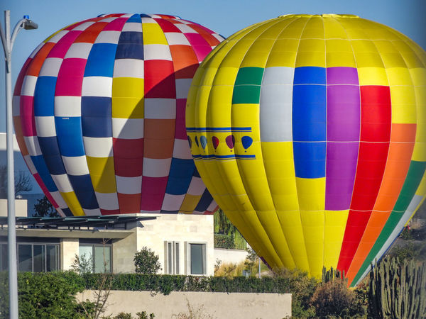 Hot Air Balloon Multi Colored Flying Balloon Ballooning Festival Transportation Day Adventure Air Vehicle Outdoors No People Sky Close-up Ballons In The Sky León, Guanajuato Fig Blue Ball Globos Aerostaticos Globos Figuras Large Group Of Objects