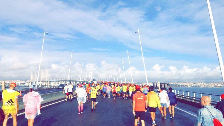 #colors #color #colorful #TagsForLikes #red #orange #yellow #green #blue #indigo #violet #beautiful #rainbow #rainbowcolors #colour #roygbiv #instacolor #instagood #colorgram #colores #vibrant #multicolor #multicolored #instacolorful #colorworld #NoFilter #nofilter#noedit #portugal 25 De Abril Bridge Blue Day Enjoyment Large Group Of People Lifestyles Nature Sky
