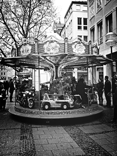 Black And White Merry Go Round