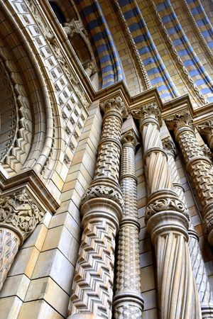 Architectural Column Architecture Architecture Built Structure History London Architecture Low Angle View Natural History Museum Natural History Museum London No People Stone Architecture Stone Pillars