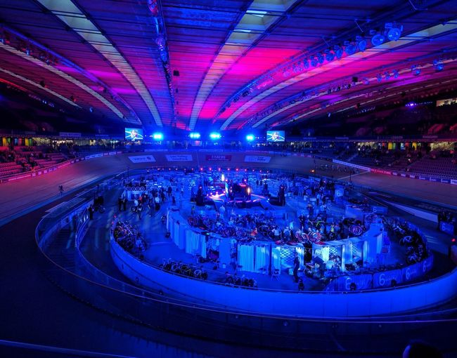 Lee Valley Velodrome Illuminated Nightlife Music Indoors  Blue 6days Be. Ready.