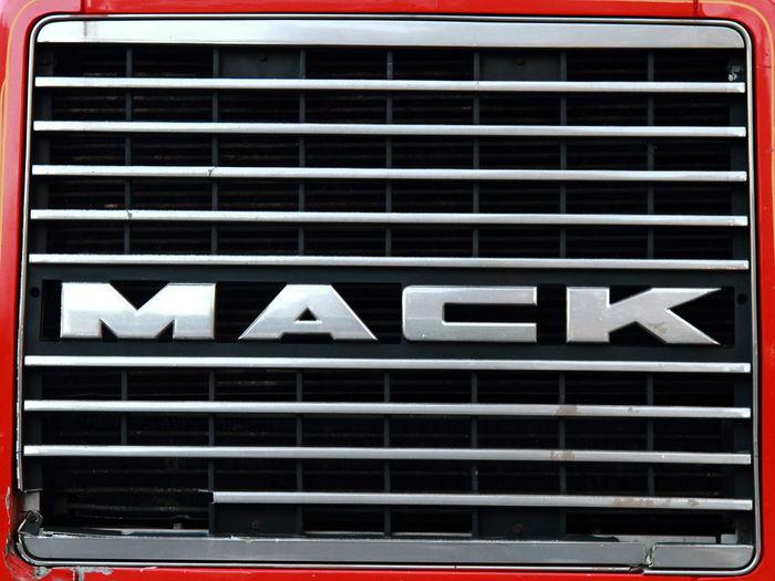 No People Communication Truck Grill Mack Symbol Capital Letter Black Color Sign