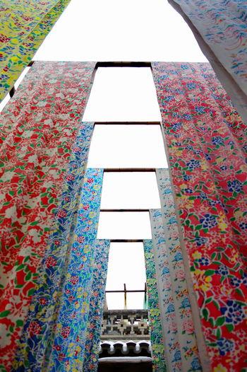 染坊 染布 Multi Colored Indoors  Day Pattern Architecture Built Structure No People 彩色