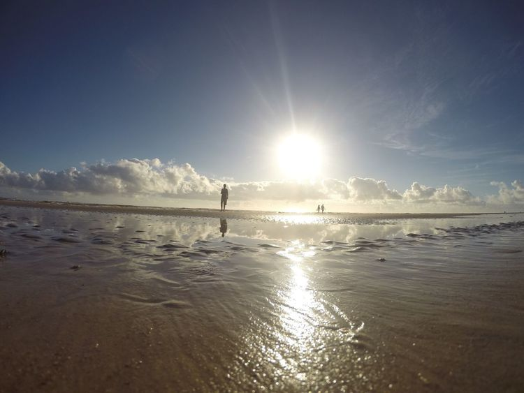 FML Sun Water Beach Tranquility Reflection One Person Nature Ilhéus Bahia Reflexão  Gopro