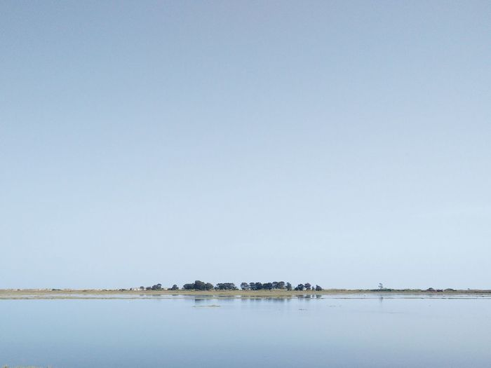 A Very Thin Line Sky Earth Water Small Vs Big Landscape