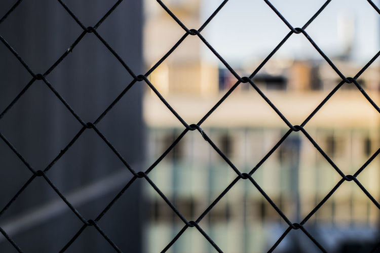 Backgrounds Chainlink Chainlink Fence Close-up Crisscross Day Focus On Foreground Hobart Metal No People Outdoors Pattern Protection Safety Security