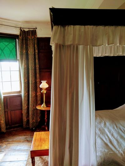 Four Post Bed Panelling Historical Building Bedroom Curtain Window