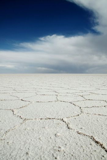 Bolivia Uyuni Salt Flat Salt Dark Blue Sky Landscape_photography