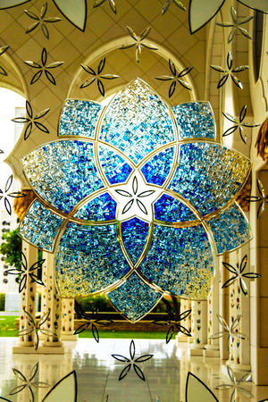 Abu Dhabi Balloon Desert Life Emirate Emirates Glass Mosaic Glass Mosaic Decoration Mosque Music Sheikh Zayed Grand Mosque UAE
