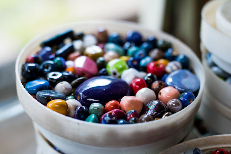 Beads DIY Kenya Red Bead Factory Blue Blueberry Bowl Close-up Collection Colorful Day Factory Handmade Indoors  Jewellery Multi Colored No People Pink Color Sweet Food Table Variation EyeEmNewHere